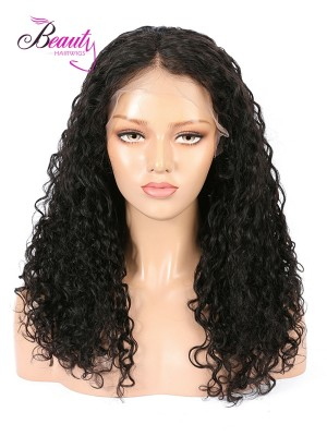 Brazilian Virgin Hair Natural Curly Human Hair Lace Front Wig 130% 150% 180% Density