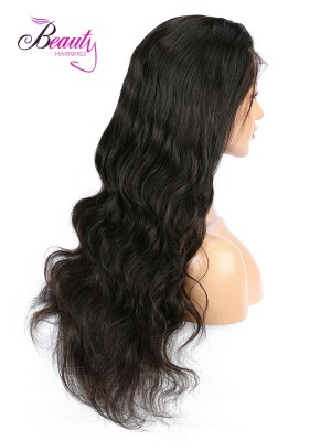 6 inches Deep Part Body Wave Lace Front Wigs Indian Remy Hair, Natural Color,130% 150% 180% Density