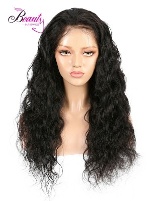 Brazilian Virgin Hair Wavy Lace Front Wig 130% 150% 180% Density