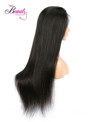 6 inches Deep Part Silky Straight Lace Front Wigs Indian Remy Hair, Natural Color,130% 150% 180% Density