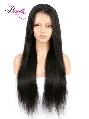 Brazilian Virgin Hair Silky Straight Lace Front Wig 130% 150% 180% Density