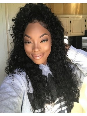 Beautyhairwigs Brazilian Raw Virgin Hair Deep Curly Full Lace Wig