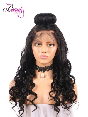 Beautyhairwigs Human Hair Loose Wave 360 Lace Frontal Wigs for Black Women 150% 180% Density Indian Remy Hair