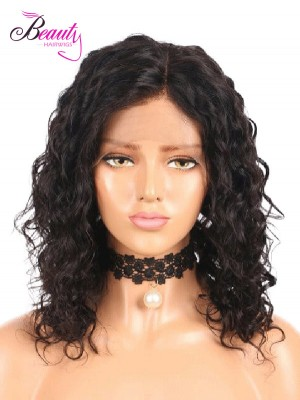 Brazilian Virgin Hair Curly Human Hair  Lace Front Bob Wig 130% 150% 180% Density
