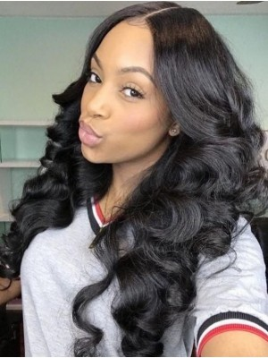 Indian Remy Hair Loose Wave Full Lace Wig 130% 150% 180% Density
