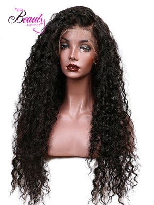 Human Hair Lace Front Wigs,Long African American Curly Human Hair Wigs for Black Women,Best Pre Plucked Lace Front Wigs for Sale,6 inches Deep Part Indian Remy Hair, Natural Color,150% Density 22 inch